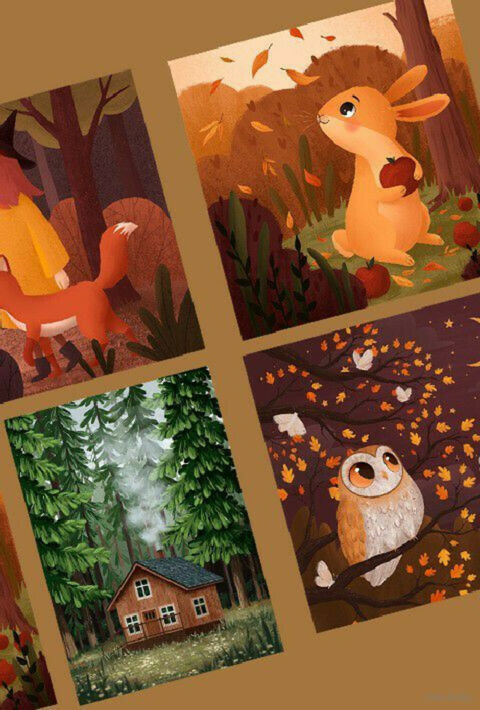 "Набор открыток ""Forest walk"" (5 шт.)"