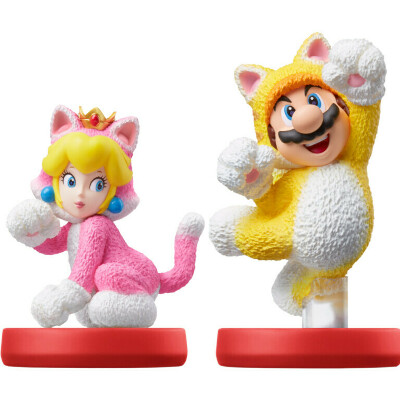 Amiibo комплект Марио-кот и Пич-кошка (коллекция Super Mario) для Switch от Nintendo