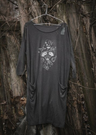 """Dress with pockets """"Raccoon witch"""" L   rumienordur"""