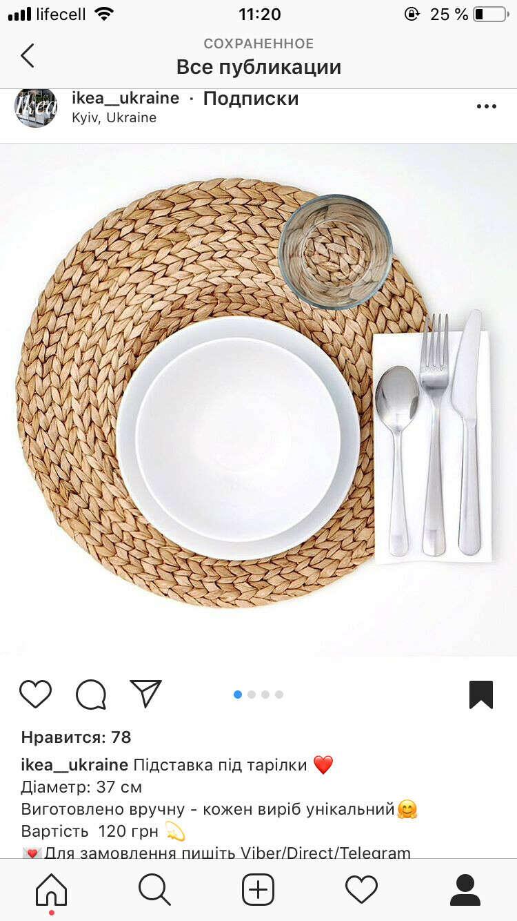 Подставки под тарелки 6 шт