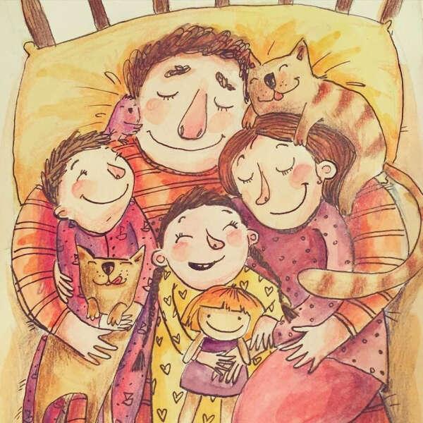 Семейное уютное счастье и благополучие