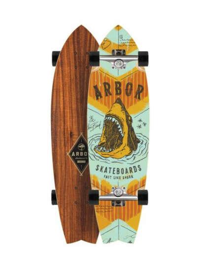 ARBOR | Комплект лонгборд GB Sizzler Shark KOA 31,75