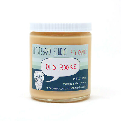 Old Books Scented Candle