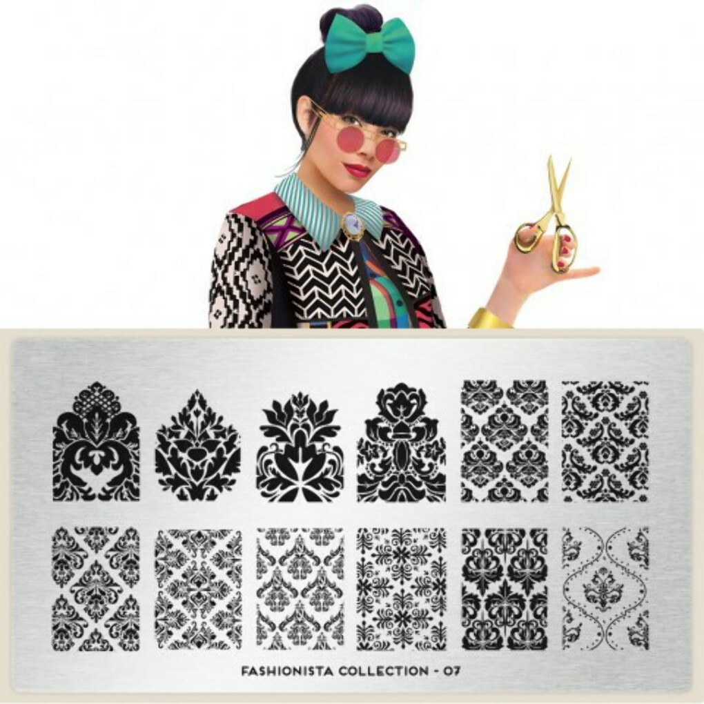moyou Nail Art design Image Plates-pro collection Fashionista Plate Collection 07