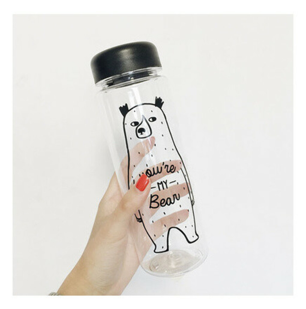 Большая бутылка с медведем