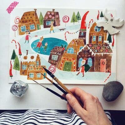 Иллюстрация для новичков — онлайн-курс Александры Балашовой