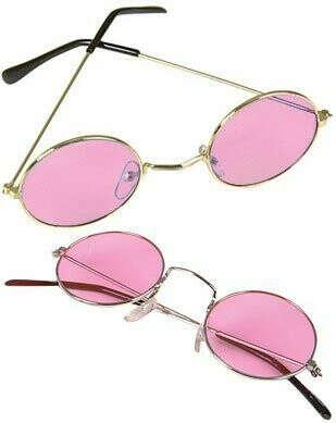 Розовые круглые очки