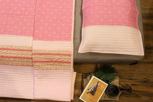 Cotton Candy Quilted Bedcover Set