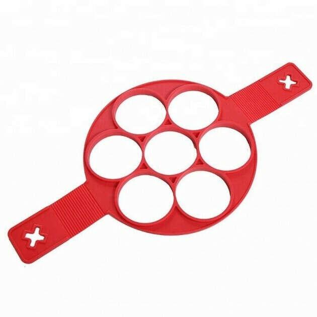 Форма силиконовая для приготовления оладий Flippin fantastic Красная
