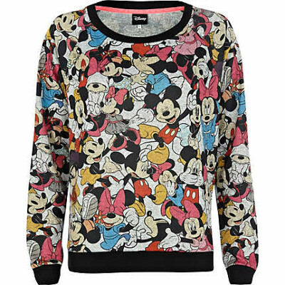 Grey Mickey Mouse print sweatshirt