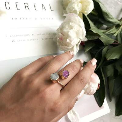Кольцо с натуральным камнем в магазине «Twinkle Shop» на Ламбада-маркете