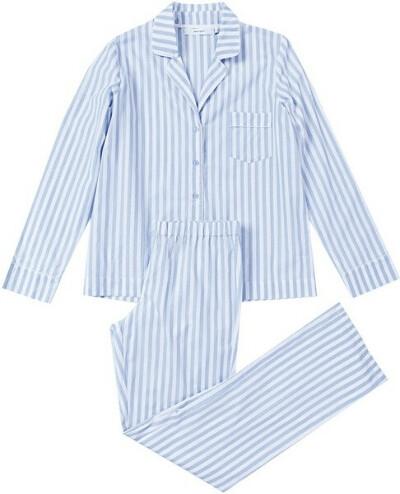 Пижама полосатая голубая