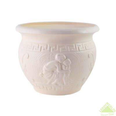 Горшок цветочный «Олимпия» D21, 3, 8л., керамика, Белый