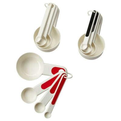 СТЭМ Мерные емкости,4 штуки - красный, белый/черный - IKEA
