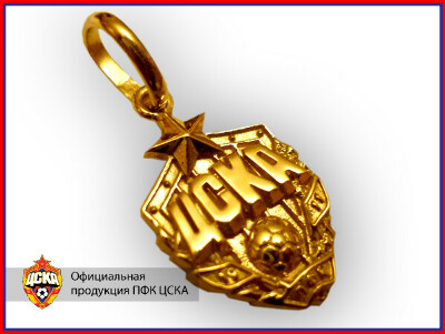 Золотой кулон ЦСКА