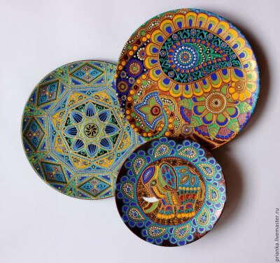 Васанта.Комплект декоративных тарелок в индийском стиле.