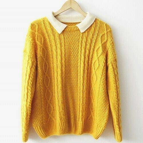 Жёлтый свитер женский
