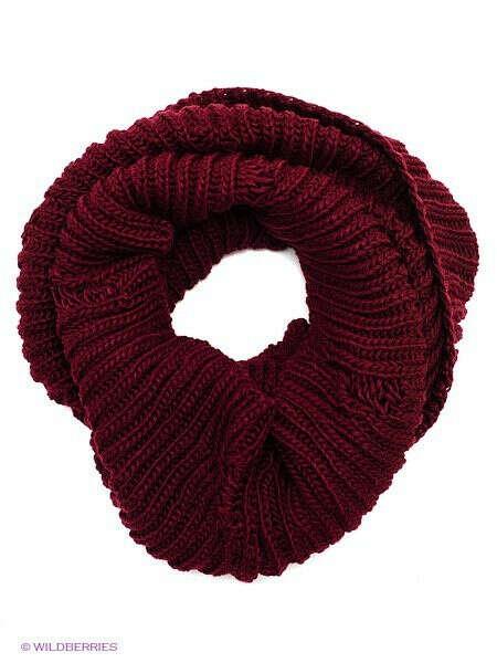 Бордовый шарф-хомут