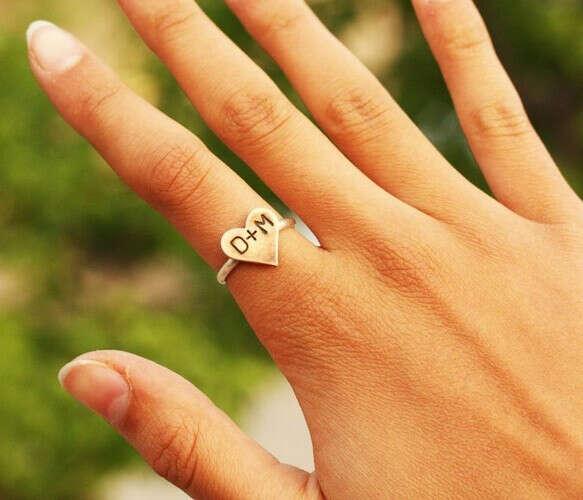 Кольцо с инициалами