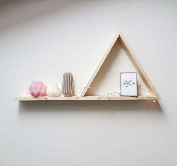 Треугольные деревянные полки  ручной работы купить в Украине. №91652