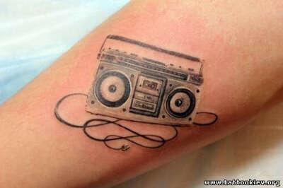 сделать татуировку бумбокс