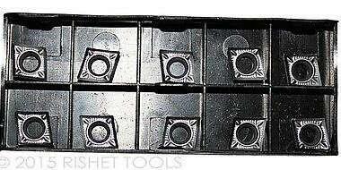RISHET TOOLS CCGX / CCGT 32.52 High Polish Carbide Inserts for Aluminum (10 PCS)