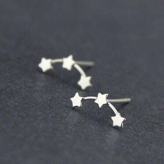 925 серебряные серьги звезда в магазине Yiwu Anne Jewelry FactoryнаAliExpress