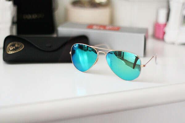 ray ban aviator blue mirror