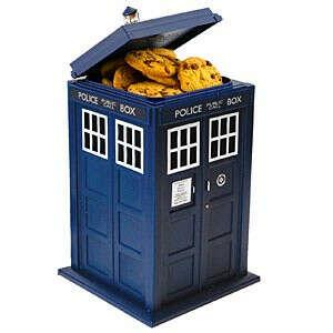 Doctor Who TARDIS Talking Cookie Jar