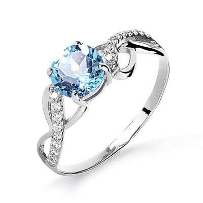 Кольцо с бриллиантом, топазом (арт. Т301015893)