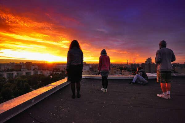 Встретить рассвет на крыше