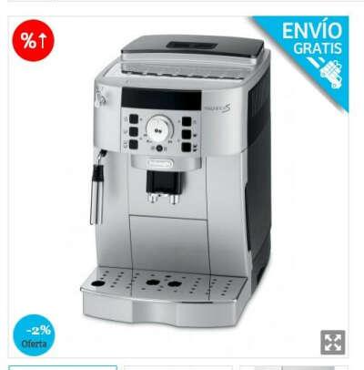 OUTLET De'longhi Magnifica S Ecam 22.110.SB - Cafetera superautomática, 15 bares de presión, 13 programas ajustables, limpieza automática, sistema cappuccino, color plata