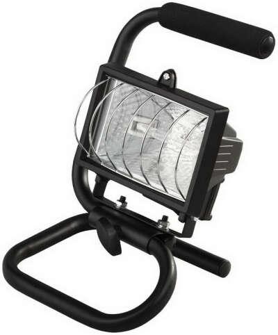 Прожектор галогенный переносной 150 Вт IP44 черный