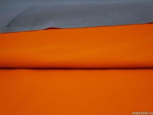 Неопрен однотонный оранжево-серый