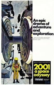 Постер 2001 A Space Odyssey (РАЗМЕР: 50Х70 СМ.  АЛЮМИНИЕВАЯ РАМКА ЧЕРНАЯ)