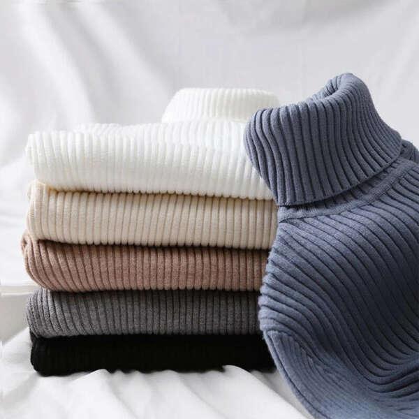 362.72руб. 45% СКИДКА|GUMPRUN осень зима женский вязаный свитер водолазка 2019  женская Повседневный тонкий свитера пуловер женский эластичный джемпер с длинным рукавом одежда|Водолазки|   | АлиЭкспресс