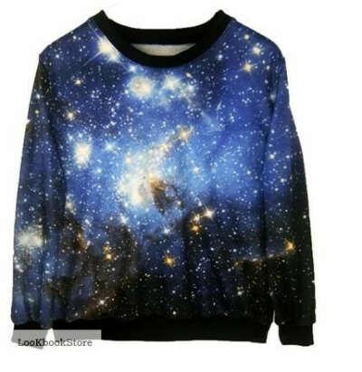 свитер с принтом космос swag антиswag