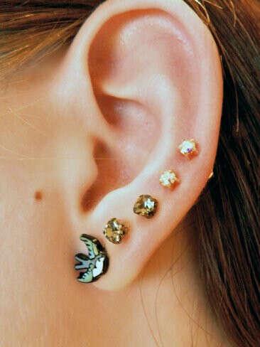 Много дырок в ушах