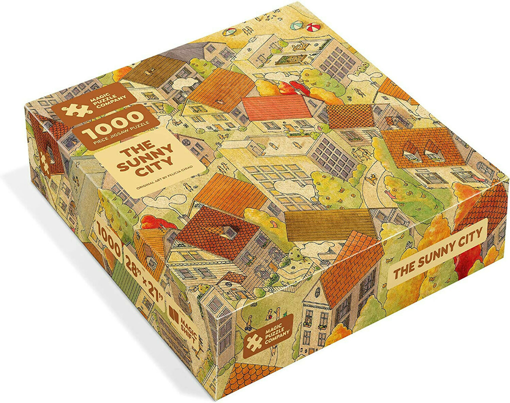 The Sunny City - 1000-Piece Jigsaw Puzzle from The Magic Puzzle Company