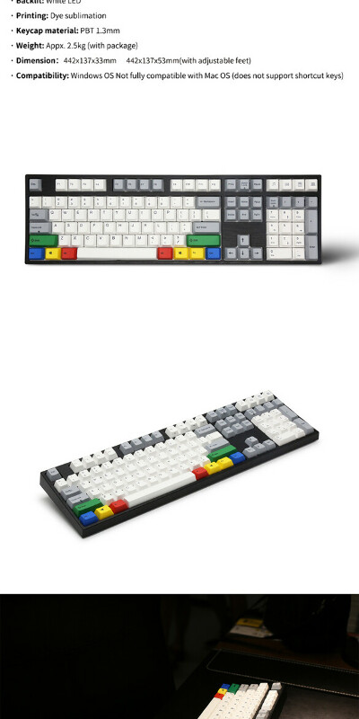 Varmilo VA108M Vintage days+RGBK Wired Mechanical Keyboard