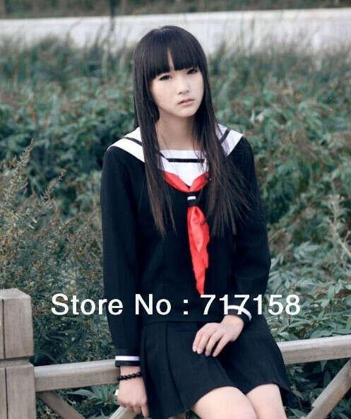 Hell Girl Enma ai Uniform cosplay/Anime Costume/Japan school student skirt dress купить на AliExpress