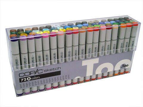 Набор маркеров A  COPIC SKETCH (72 шт)