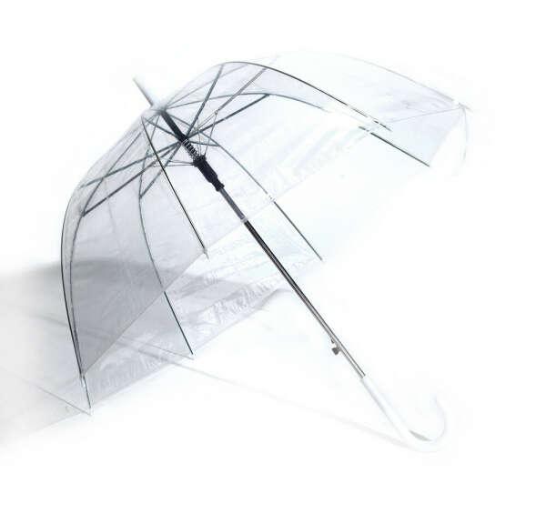 Прозрачный зонт-трость