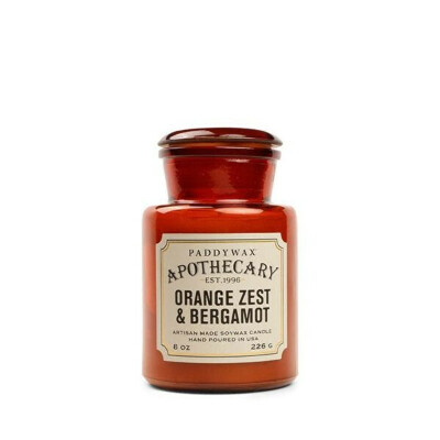 ORANGE ZEST&BERGAMOT Большая свеча в аптекарской баночкe, PaddyWax