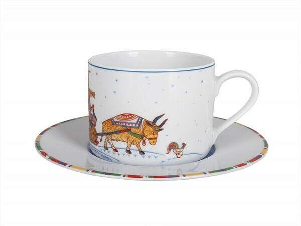 Чашка с блюдцем Полюс Масленица арт. 81.24781.00.1