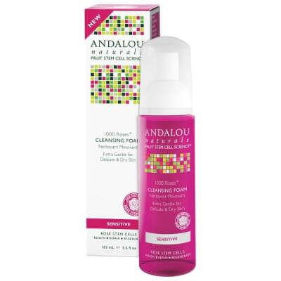 Andalou Naturals, Очищающая пенка для чувствительной кожи, 1000 роз, 5.5 жидких унций (163 мл)