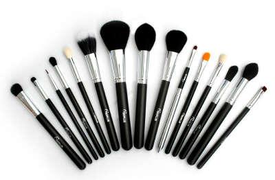 Sixplus Professional 15 Pcs Black Makeup Brushes