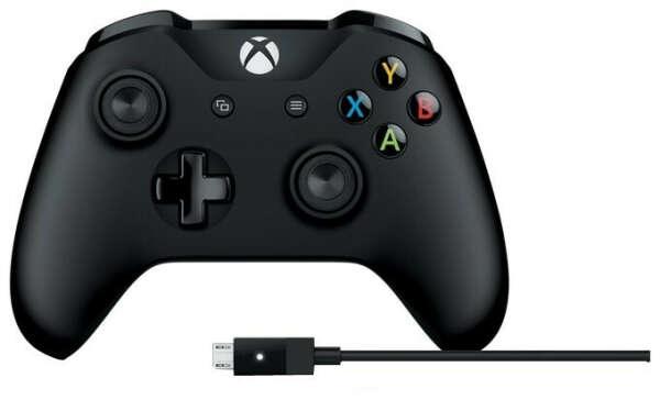 Геймпад Microsoft Xbox One Controller + USB кабель для ПК — купить по выгодной цене на Яндекс.Маркете