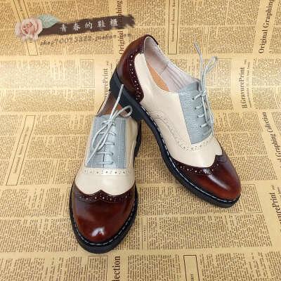 Ботинки оксфорды (2 или 3 цвета) в ретро-стиле