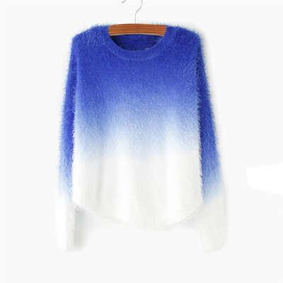 2015 осень зима кашемировый свитер женщин мода сексуальная о образным вырезом свитер широкий 100% пушистой шерстью женщины свитера и пуловеры купить на AliExpress